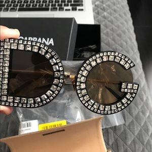 Dolce & Gabbana Crystal Sunglasses 100% Authentic